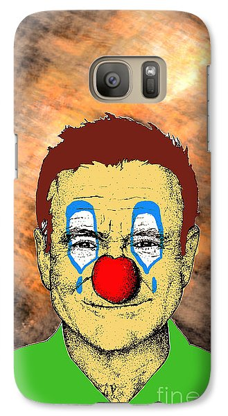 Galaxy Case featuring the drawing Robin Williams 1 by Jason Tricktop Matthews