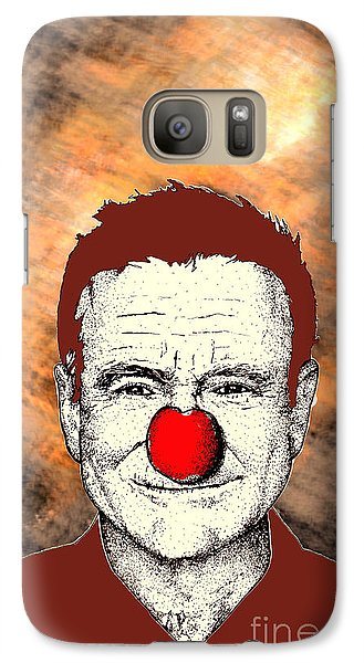 Galaxy Case featuring the drawing Robin Williams 2 by Jason Tricktop Matthews