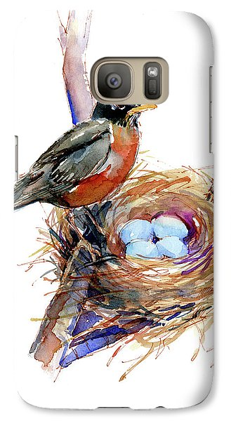Robin With Nest Galaxy S7 Case