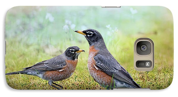 Galaxy Case featuring the photograph Robins, Heralds Of Spring by Bonnie Barry