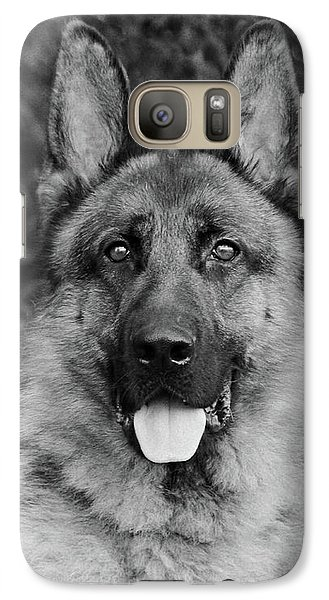 Galaxy Case featuring the photograph Rocco - Bw by Sandy Keeton