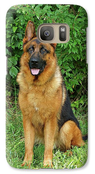 Galaxy Case featuring the photograph Rocco Sitting by Sandy Keeton