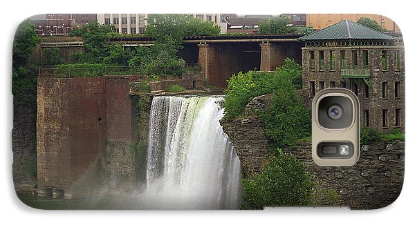 Galaxy Case featuring the photograph Rochester, New York - High Falls 2 by Frank Romeo