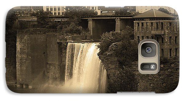 Galaxy Case featuring the photograph Rochester, New York - High Falls 2 Sepia by Frank Romeo