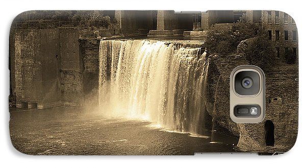 Galaxy Case featuring the photograph Rochester, New York - High Falls Sepia by Frank Romeo