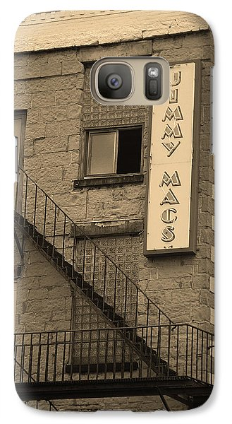 Galaxy Case featuring the photograph Rochester, New York - Jimmy Mac's Bar 2 Sepia by Frank Romeo