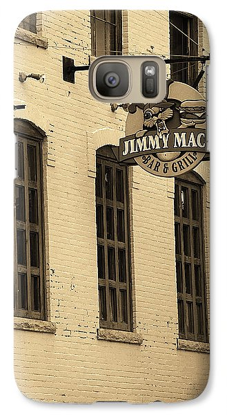Galaxy Case featuring the photograph Rochester, New York - Jimmy Mac's Bar 3 Sepia by Frank Romeo
