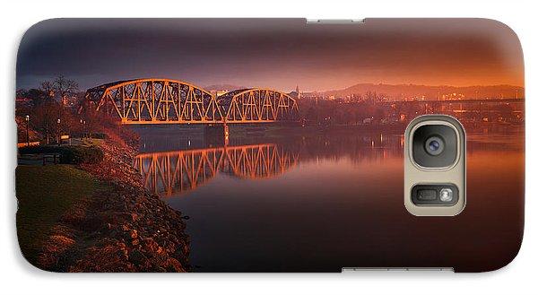 Beaver Galaxy S7 Case - Rochester Train Bridge  by Emmanuel Panagiotakis