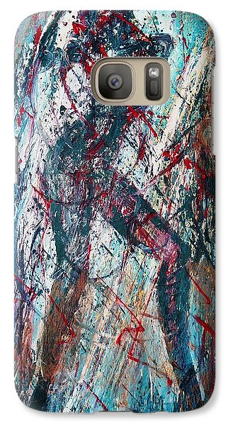 Galaxy Case featuring the painting Rock And Roll by Jarmo Korhonen aka Jarko