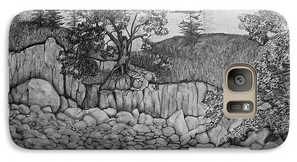 Galaxy Case featuring the drawing Rock Beach by John Stuart Webbstock