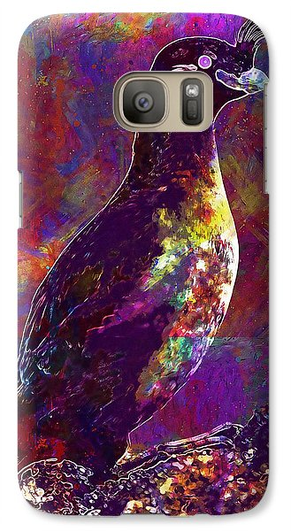 Rock Bird Auklet Crested Birds  Galaxy S7 Case
