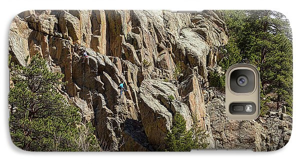 Galaxy Case featuring the photograph Rock Climbers Paradise by James BO Insogna
