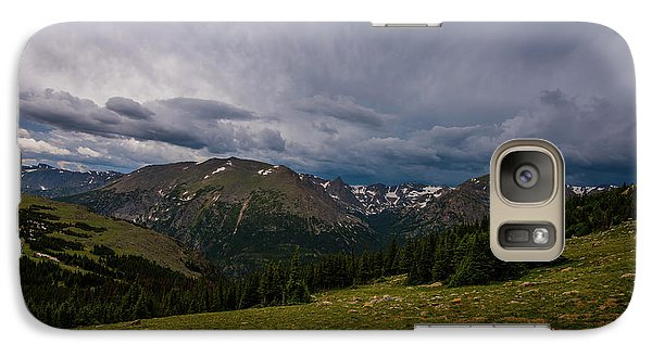 Galaxy Case featuring the photograph Rock Cut 3 - Trail Ridge Road by Tom Potter