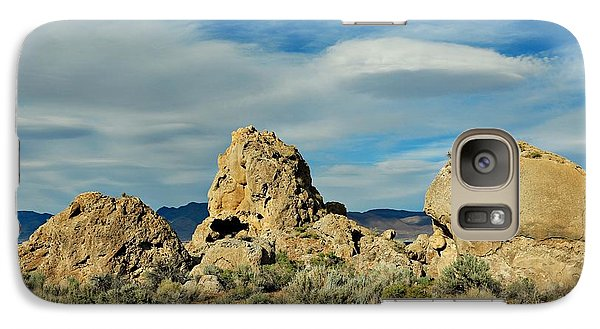 Galaxy Case featuring the photograph Rock Formations At Pyramid Lake by Benanne Stiens