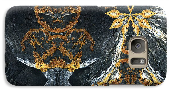 Galaxy Case featuring the digital art Rock Gods Lichen Lady And Lords by Nancy Griswold