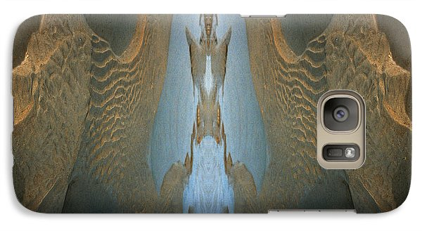 Galaxy Case featuring the photograph Rock Gods Seabird Of Old Orchard by Nancy Griswold