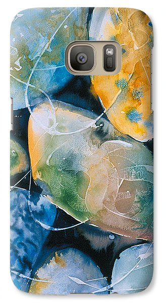 Galaxy Case featuring the painting Rock In Water by Allison Ashton