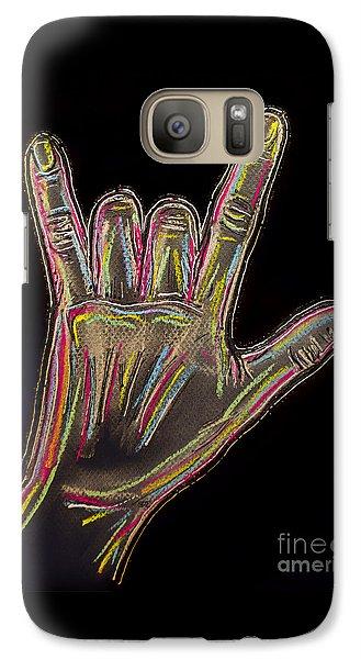 Rock Is Alive Galaxy Case by Elena   Kucherenko