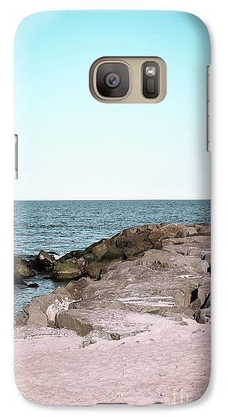 Galaxy Case featuring the photograph Rock Jetty by Colleen Kammerer