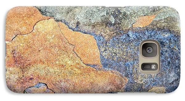Galaxy Case featuring the photograph Rock Pattern by Christina Rollo