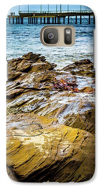 Galaxy Case featuring the photograph Rock Pier by Perry Webster