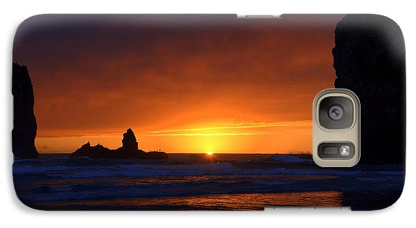 Galaxy Case featuring the photograph Rock Sunset by Jerry Cahill