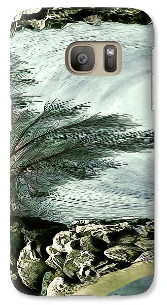 Galaxy Case featuring the photograph Rock Tunnel by Pennie  McCracken