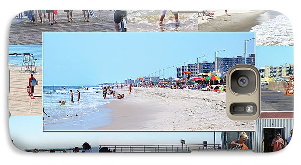 Galaxy Case featuring the photograph Rockaway Beach And Boardwalk 003 by Maureen E Ritter