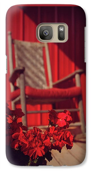 Galaxy Case featuring the photograph Rockin' Red by Jessica Brawley