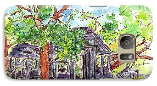 Galaxy Case featuring the painting Rockland Cabin by Cathie Richardson