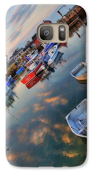 Galaxy Case featuring the photograph Rockport Harbor Motif #1  by Joann Vitali