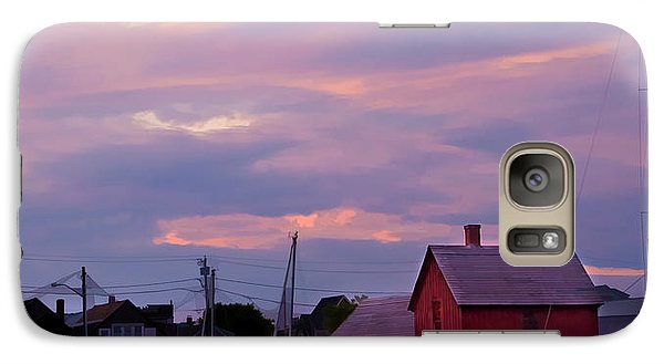 Galaxy Case featuring the photograph Rockport Sunset Over Motif #1 by Jeff Folger