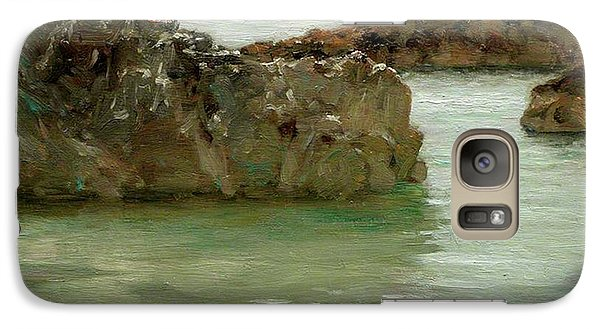 Galaxy Case featuring the painting Rocks At Newport by Henry Scott Tuke