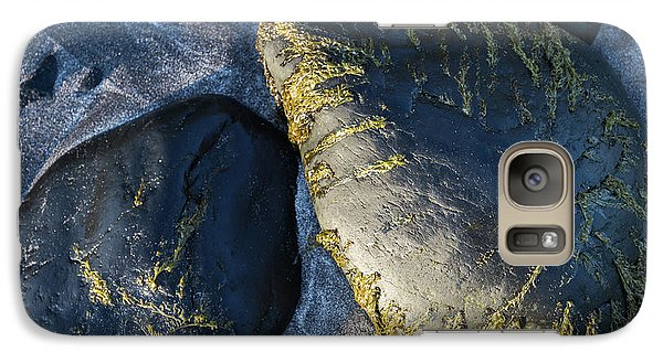Galaxy Case featuring the photograph Rocks From Talisker Beach 2 by Davorin Mance