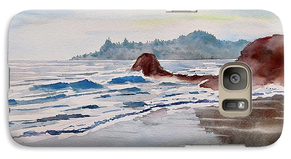 Galaxy Case featuring the painting Rocky Beach by Geni Gorani