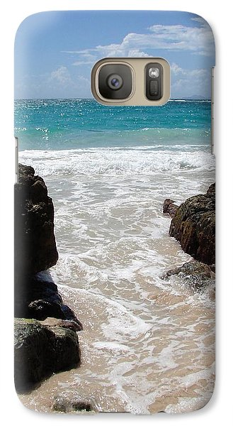 Galaxy Case featuring the photograph Rocky Beach In The Caribbean by Margaret Bobb