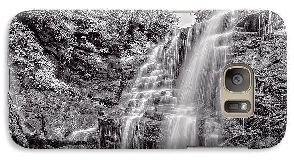 Galaxy Case featuring the photograph Rocky Falls - Bw by Christopher Holmes