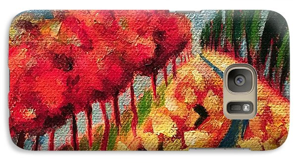 Galaxy Case featuring the painting Rocky Mountain by Elizabeth Fontaine-Barr