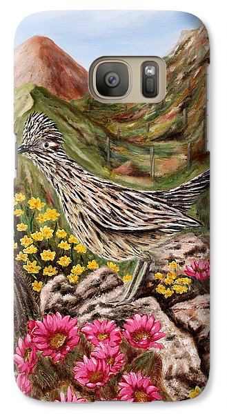 Galaxy Case featuring the painting Rocky Road Runner by Judy Filarecki
