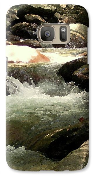 Galaxy Case featuring the mixed media Rocky Stream 4 by Desiree Paquette