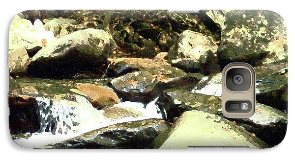 Galaxy Case featuring the mixed media Rocky Stream 5 by Desiree Paquette