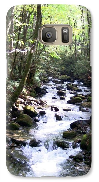 Galaxy Case featuring the mixed media Rocky Stream 6 by Desiree Paquette