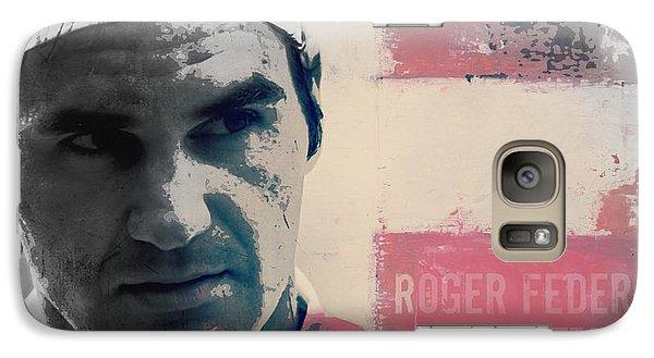 Tennis Galaxy S7 Case - Roger Federer  by Paul Lovering