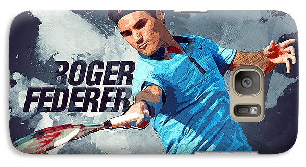 Serena Williams Galaxy S7 Case - Roger Federer by Semih Yurdabak