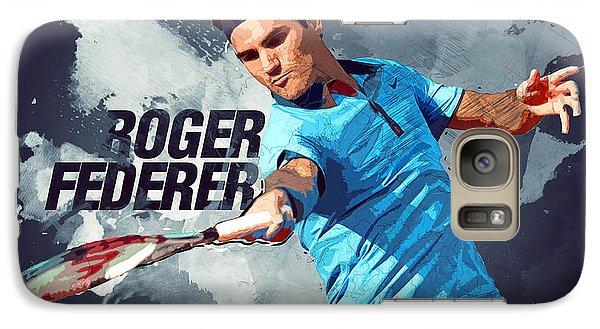 Roger Federer Galaxy Case by Semih Yurdabak