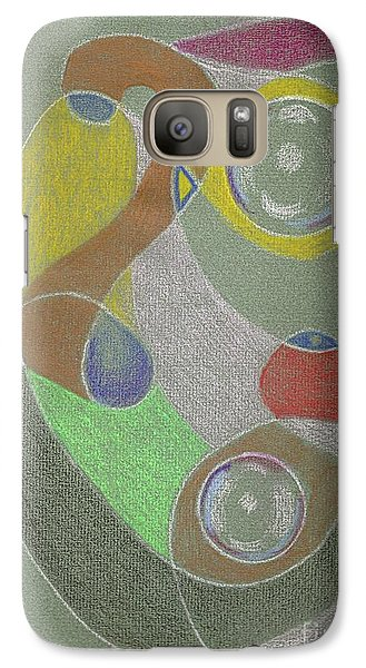 Galaxy S7 Case featuring the drawing Roley Poley Vertical by Rod Ismay