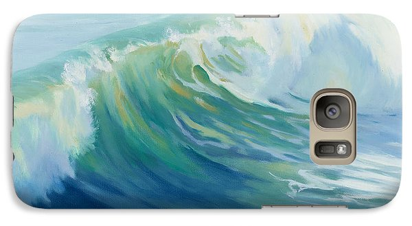 Galaxy Case featuring the painting Roll With It by Sandy Fisher