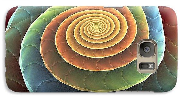 Galaxy Case featuring the digital art Rolling Spiral by Anastasiya Malakhova