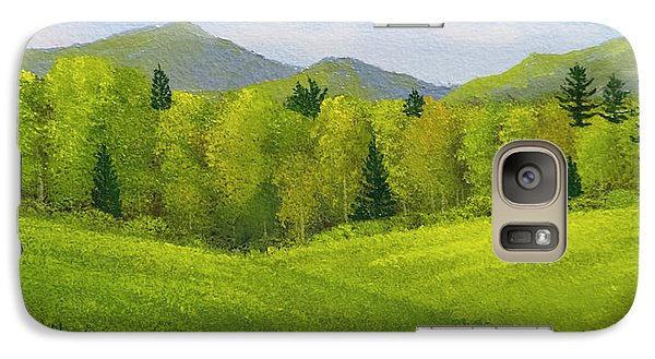 Galaxy Case featuring the painting Rolling Spring Pastures  by Frank Wilson