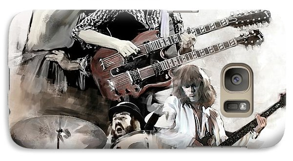 Galaxy Case featuring the painting Rolling Thunder Led Zeppelin by Iconic Images Art Gallery David Pucciarelli